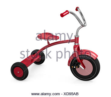 toy tricycle childhood - Stock Photo
