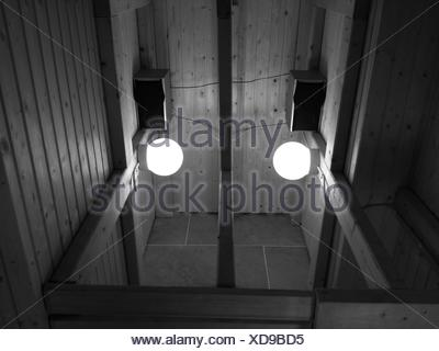 High Angle View Of Illuminated Light Bulbs In House