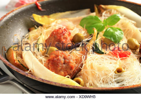 food, aliment, detail, ground, soil, earth, humus, leaves, gourmet, dish, meal, - Stock Photo