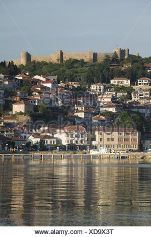 Mazedonien, Ohrid, Festung, Altstadt, Ohrid-See, Morgens, - Stock Photo