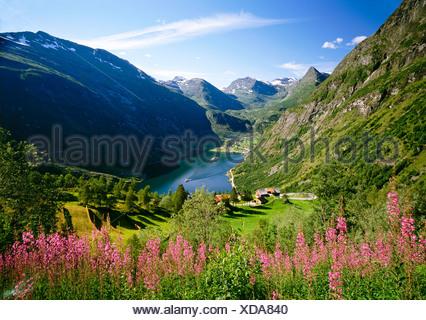 Geiranger Fjord, Norway, Scandinavia, Europe - Stock Photo