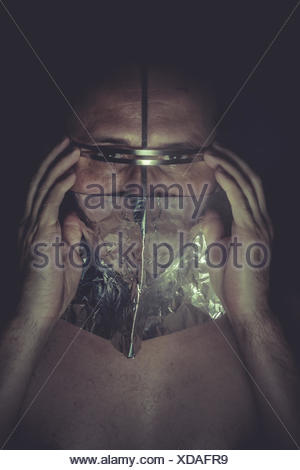 Nightmare, concept of mental disorder, schizophrenia and depression - Stock Photo