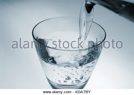 sauberes Wasser im Glas - Glass of clean Water - Stock Photo