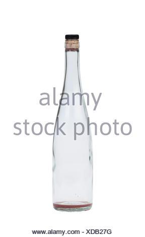 Empty wine bottle isolated on a white background - Stock Photo