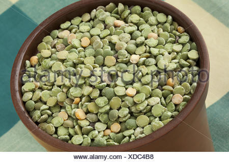 Green split peas in a pot. - Stock Photo
