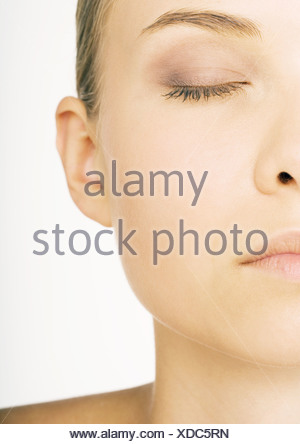 Woman's face, partial view - Stock Photo