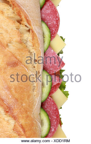 salami sandwich from above