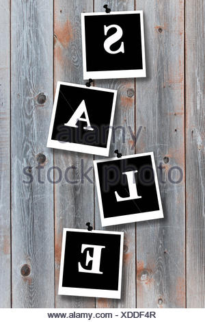 image of background from boards of a grey fence - Stock Photo