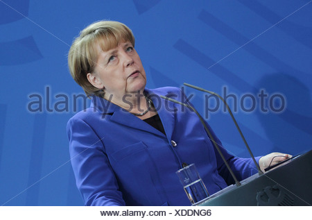 Berlin, Germany, German Chancellor Angela Merkel, CDU - Stock Photo