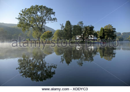 The river Ruhr, Witten, Germany - Stock Photo