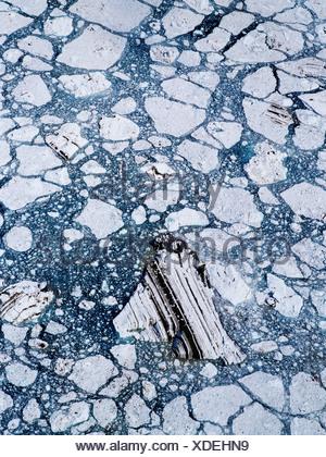 Ice Pattern Below John Hopkins Glacier - Stock Photo