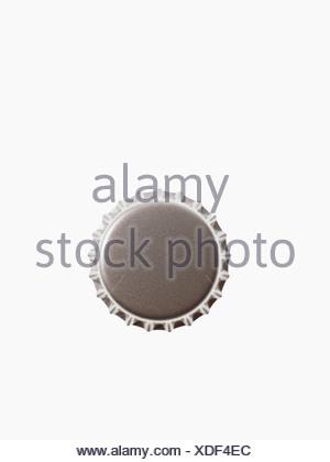 Studio shot of grey bottle cap - Stock Photo
