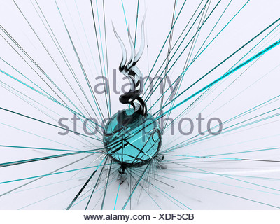 glass abstract. 3d - Stock Photo