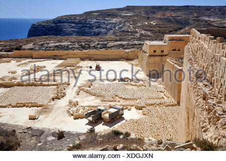 Limestone quarry, Gozo, Malta Stock Photo: 104480820 - Alamy   Gozo Limestone