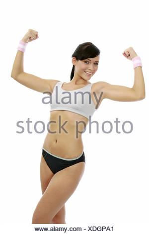 Aktiv, Bewegung, Fitness, Fitnessraum, Fitnessstudio, Gesundheit, Gymnastik, Innenaufnahme, Sport, Sportbekleidung, Sportkleidun - Stock Photo