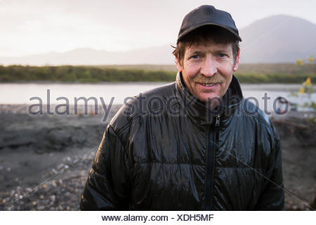 Beach,Adventure,Happiness,Portrait,Camper,Camping - Stock Photo