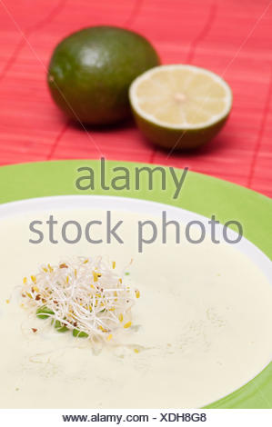 Sprouts on a peas soup - Stock Photo