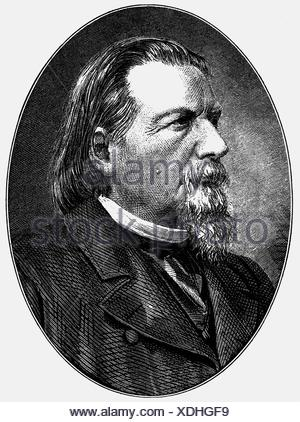 Gutzkow, Karl Ferdinand, 17.3.1811 - 16. 12.1878, German author / writer and journalist, portrait, wood engraving, 19th century, , Additional-Rights-Clearances-NA - Stock Photo