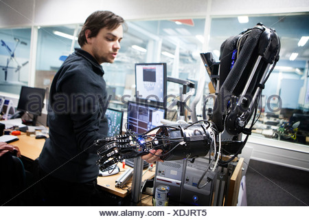 ROBOTICS RESEARCH - Stock Photo