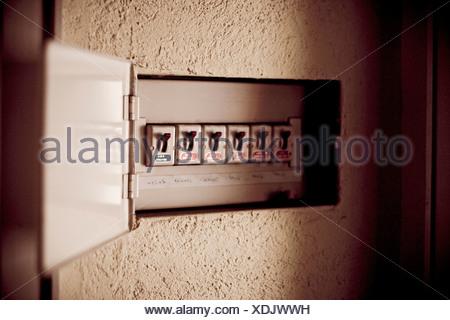 Fuse box, close-up - Stock Photo