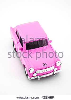 Trabant, miniature, pink - Stock Photo