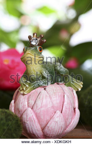 Frog, frog prince, character, animal figure, - Stock Photo