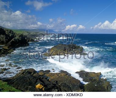 Coast, Slieve More, Atlantic Drive, County Mayo, Republic of Ireland, Europe - Stock Photo