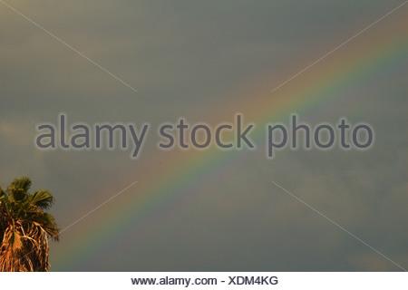 Rainbow over the sea of Galilee - Stock Photo