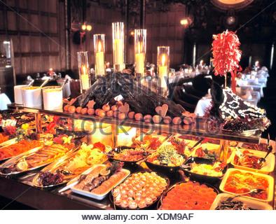 fdbd98769b22 ... abundance annual assortment buffet burn burning candle candles choices  Christmas color colours dish dishe - Stock