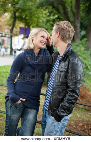 Flirt in the park - Stock Photo