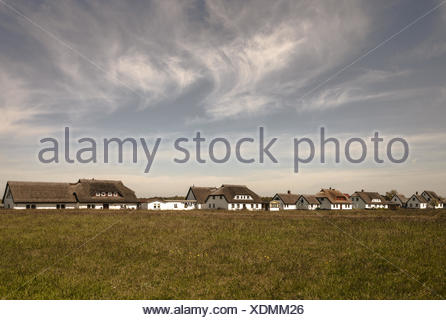 Neuendorf - place of Hiddensee - Stock Photo