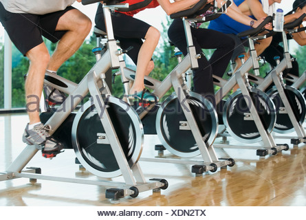 Spinning class - Stock Photo