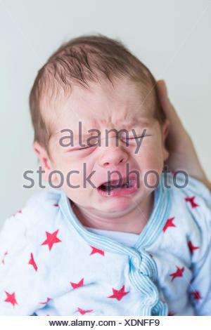Three week old baby boy. - Stock Photo