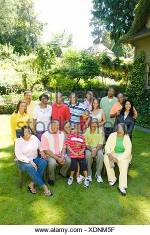 Big group family portrait - Stock Photo