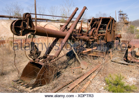 Old steamshovel Cecil County Maryland - Stock Photo