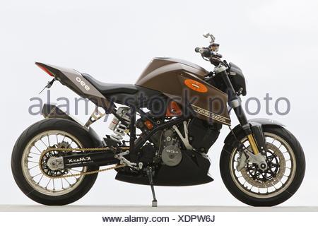 Motorcycle, KTM 990 Road Hero, left page, studio recording, - Stock Photo