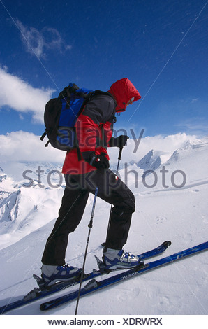 Ski-Tour, Aufstieg - Stock Photo