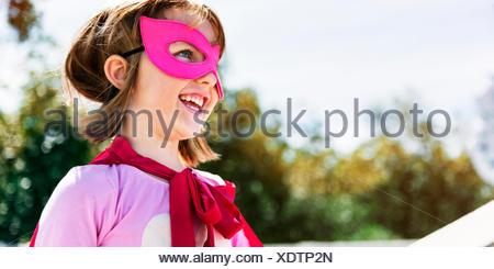 Little Girl Super Hero Concept - Stock Photo