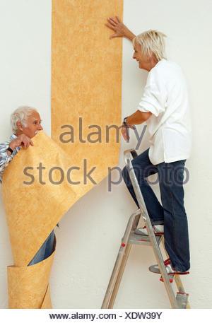 Do it yourself senior couple renovation wallpaper colour stock apartment renovation performances senior pair papers 60 70 years couples solutioingenieria Gallery