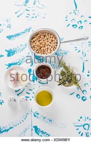Chick pea soup - Stock Photo