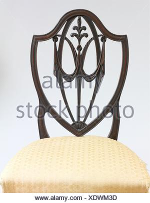 Side Chair. Date: 1770-1800; Geography: Made in United States; Culture: American; Medium: Mahogany; Dimensions: 39 3/4 x 22 x 17 1/2 in. (101 x 55.9 - Stock Photo