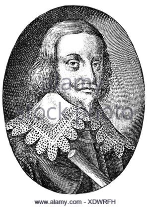 Torstensson, Lennart, 17.8.1603 - 7.4.1651, Swedish general, portrait, copper engraving, 17th century, , Artist's Copyright has not to be cleared - Stock Photo