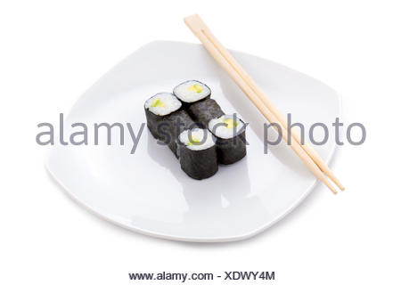 restaurant food aliment tool object culture isolated sticks kitchen cuisine plate exotic taste traditional raw spicy gourmet - Stock Photo