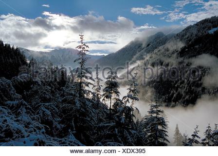 Winterlandschaft Samnaun Schweiz - Stock Photo