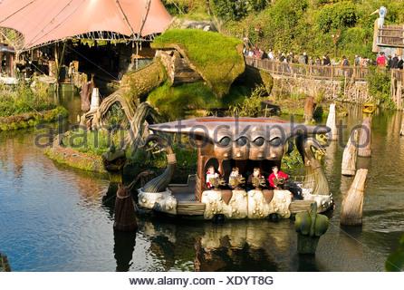 Phantasialand amusement park, theme park Fantasy, attraction WAKOBATO, Bruehl, Nordrhein-Westfalen, Germany, Europe - Stock Photo