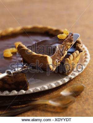 Spicy Chocolate Fudge Pie - Stock Photo