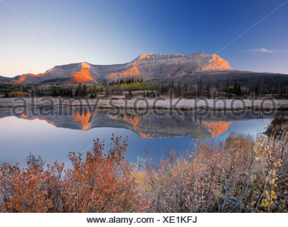 Sofa Mountian, Waterton Lakes National Park, Alberta, Canada - Stock Photo