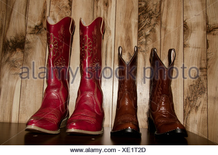 Cowboy boots, close up - Stock Photo