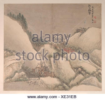 Landscapes in the Styles of Various Artists. Artist: Cao Jian (Chinese, active early 18th century); Period: Qing dynasty (1644-1911); Culture: China; - Stock Photo