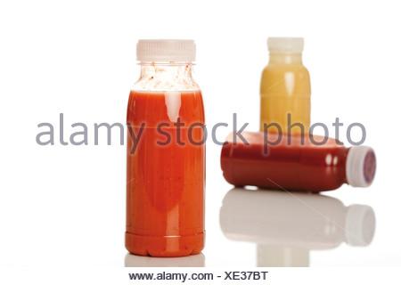 Bottled smoothies - Stock Photo